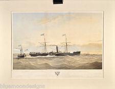 United States Mail Steam Ship Atlantic S. Walters 1855 Post Dampfschiff 50 x 70