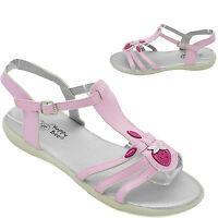 Girls Pink Summer Sandals Gladiators Shoes Size 9 10 11 12 13 1 2 Beach B118680