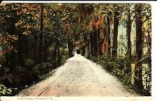 Early 1900's The Lover's Lane in Florence, SC South Carolina PC