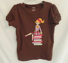 "NWT Gymboree Sunflower Brown ""Smart Girl's Guide"" Shirt short sleeves 6T"