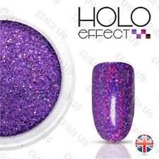 Purple LASER HOLO MERMAID EFFECT NAIL ART POWDER  DUST Holographic   Plum 20
