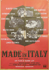 MANIFESTO, MADE IN ITALY, SORDI, LISI, MAGNANI, SPAAK, MANFREDI, LOY, AUTO CAR