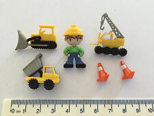 Construction equipment loader crane tip truck Novelty Dress It Up Buttons  8305