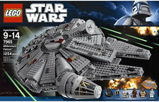 NEW 2011 LEGO 7965 STAR WARS MILLENNIUM FALCON BUILDING BRICK SPACE SHIP SET