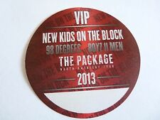 New Kids On The Block Boys To Men 98 Degrees 2013 Tour Red VIP Backstage Pass