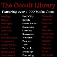 The Occult Library - Massive Collection of Occult Books on DVD
