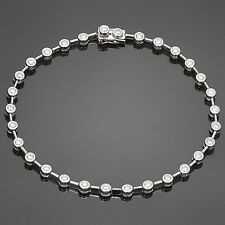 Classic Diamond 18k White Gold Tennis Bracelet
