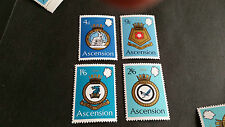 Isola di Ascensione 1970 SG 130-133 ROYAL NAVY crests (2a serie) MNH