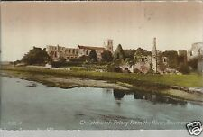 Christchurch Priory from the River  Bournemouth Old Unposted Postcard