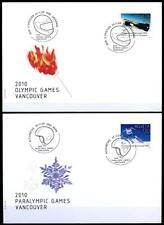 Olymp. und Paralymp.Winterspiele 2010, Vancouver. 2 FDC. Schweiz 2009