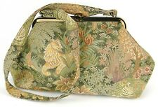 VINTAGE CARPET BAG, ROUGHAM, SUFFOLK ENGLAND, TAPESTRY SHOULDER BAG