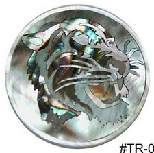 "CH1# Circle Tiger Inlay Paua Abalone & Black White Mother of Pearl 1.2"" diameter"