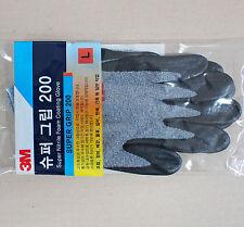 NEW 20 pairs 3M SUPER GRIP 200 Polyurethane PU Nitrile Coated Coating Gloves