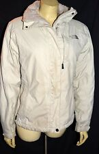 North Face Womens off white coat Jacket - Size S hyvent faux fur lined cozy