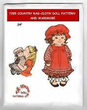 7285 Design Country Rag-Cloth doll pattern w/Clothes