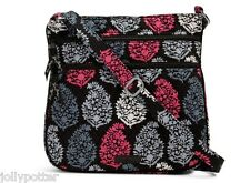 VERA BRADLEY Triple Zip Hipster Crossbody NORTHERN LIGHTS Tote Purse Bag $58 NEW
