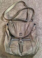 Lucky Brand Genuine Olive Lamb Leather Flap Crossbody Messenger Bag Handbag