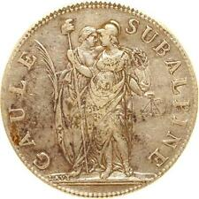 L6228 Italy Gaule Subalpine 5 Francs An 10 Argent Silver -  M Offer