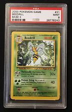 PSA 9 MINT 2000 Pokemon Base Set 2 Beedrill 21/130