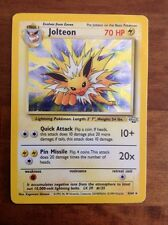 Pokemon Card Jolteon Holographic Jungle Set 4/64 Rare Played Condition