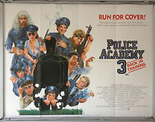 Cinema Poster: POLICE ACADEMY 3 BACK IN TRAINING 1985 (Quad) Drew Struzan Design
