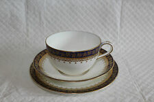 Aynsley for Waring & Gillow Cobalt Blue Gilded Plate Cup & Saucer Trio