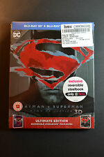 HMV Batman V Superman Dawn of Justice Steelbook 3D Bluray NEW+SEALED REGION FREE