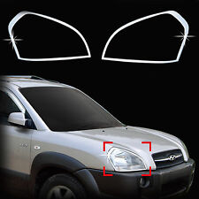 Chrome Headlight Lamp Molding Trim Cover for 05-09 Tucson