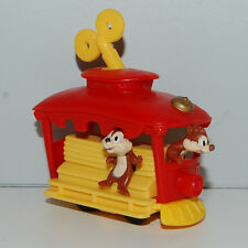 "3"" Chip & Dale Wind-Up Train Trolley Car Burger King Disney"