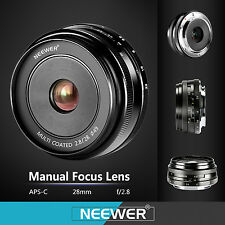 Neewer 28mm f/2.8 Manual Focus Prime Fixed Lens for SONY E-Mount