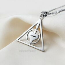 New HARRY POTTER Deathly Hallows ALWAYS Pendant Necklace ROTATE Men Women
