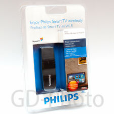 NUOVO IN SCATOLA PHILIPS PTA128 WI-FI WIRELESS ADATTATORE TV pfl3208 pft4509 USB Dongle