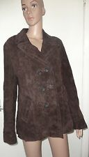 WALLACE SACKS COLLECTION, SIZE 16 BROWN, 100% LEATHER JACKET, PLUS SIZE, NWOT