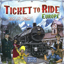 *NEW Ticket To Ride EUROPE Days of Wonder- Family Board Game - Train Adventure