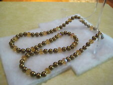 """HEIDI DAUS """"Ladies Choice"""" 42"""" Long (Gold Pearl) Necklace With AB Accents"""