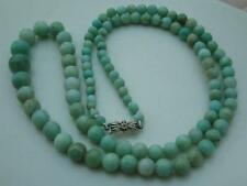 BEAUTIFUL 20/30'S DECO GRADUATED JADE BEAD NECKLACE 9CT WHITE GOLD/DIAMOND CLASP