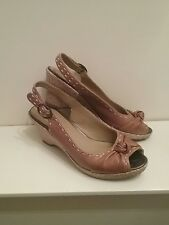 "Fabulous ""M & S FOOTGLOVE"" design ladies ""leather wedge"" shoes/sandals size 5.5"