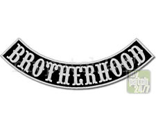 Un écusson Biker patch Brotherhood arc Bas 30cm brodés, Bottom rocker, MC