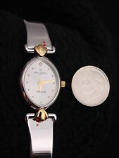 Vintage French Michel Herbelin Ladies Corynthe Watch Stainless Gold Faux Diamond
