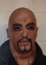 Realistic Latex Mask Black Male Man Disguise Halloween Goatee Beard SECONDS