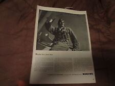 """1943 Boeing World War II WWII Vintage Magazine Ad """"Maybe he's your boy"""""""