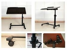 New Portable Laptop Notebook Rolling Table Cart TV Stand Tiltable Tabletop Desk