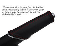 RED STITCHING FITS AUDI A1 LEATHER HANDBRAKE HANDLE COVER ONLY