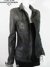 STUNNING WOMENS ALL SAINTS DIP DYE LORRIMER SHIRT SOFT LEATHER JACKET 6 8 £250