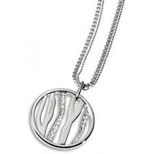 Just Cavalli SCQL13 AFRICA Damen Halskette Edelstahl Silber mit Kristallen 80 cm