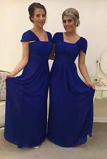 NEW CHIFFON BRIDESMAID DRESS WEDDING MAXI LENGTH FORMAL PARTY PROM EVENING BALL