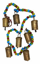 """""""SALE"""" Chime/Hanging 7 Cow Bells w Coloured Beads, Positive Energy & Prosperity"""