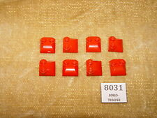 LEGO Parts: 47457 Brick, Modified 2x2x2/3 Two Studs, Curved Slope End RED x8