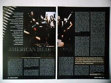 COUPURE DE PRESSE-CLIPPING :  AMERICAN HEAD CHARGER [2pages] 03/2002 Chad Hanks