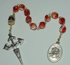 Amethyst & Czech Glass Ecce Homo Jesus Crowned with Thorns Single Decade Rosary